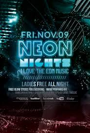 glow flyer neon nights glow party flyer facebook cover by louistwelve