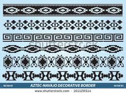 Aztec Navajo Decorative Border Vector Set  T