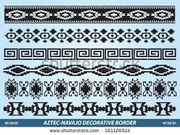 Aztec Navajo Decorative Border Vector Set  T