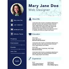 Resume Template Doc Best 60 Sample CV Templates PDF DOC Free Premium Templates