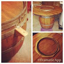 wine barrel outdoor furniture wine barrels collected from napa valley table tops sourced from local salvage alpine wine design outdoor