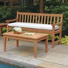 teak wood patio bench clifton 5 ft