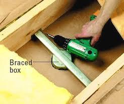 ceiling fan box. installing a ceiling fan box : in addition to