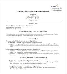 High School Resume Examples New High School Resume Examples Pdf Resume Corner