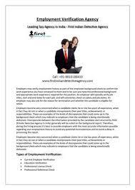 employment dates verification employment verification agency by fida detective agency issuu
