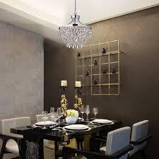 image of chrome chandelier diningroom