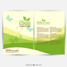 Brochures Templates Free Download Brochure Ecology Template Vector Free Download