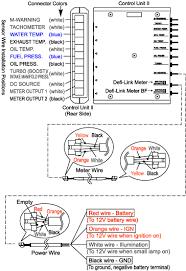 defi link display how to install egauges com defi bf tachometer manual at Defi Meter Wiring Diagram