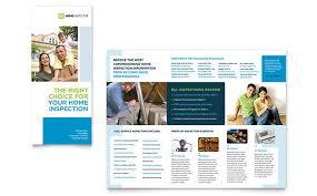 Tri Fold Samples Home Inspection Inspector Tri Fold Brochure Template Design