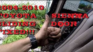 fixed toyota sienna power sliding door problem