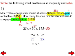 worksheet writing inequalities from word problems worksheet 29a word problems with two step inequalities you you