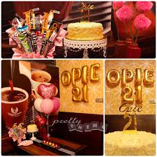 Table Styling: 21st birthday dinner surprise for BFF with our latest  product of gold acrylic cake topper that match the gold alphabet foil  balloon at Muar ...