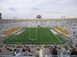 Notre Dame Stadium Detailed Seating Chart Notre Dame Stadium Seat Views Section By Section
