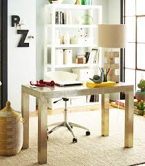 love this metal parsons desk from west elm neat combo with traditional furniture