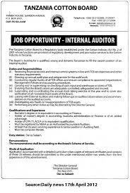Internal Auditor Tayoa Employment Portal