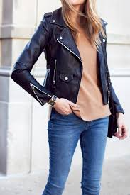blanknyc easy rider black leather jacket camel cashmere sweater m i h jeans