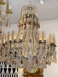 a very pretty large sized french late 19th century bronze antique chandelier with 18 lights