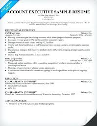 Sample Resume Account Executive Account Executive Sample Resume Sample Resume For Senior Management