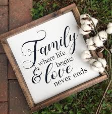 family pattern wooden wall plaques with