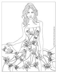 Small Picture Coloring Pages Of Designs Dresses Fashion design coloring pages