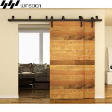 sliding door hardware. WinSoon 5-16FT Bypass Sliding Barn Door Hardware Double Track Kit Bent New E