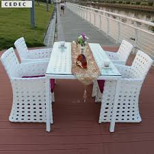 rattan dining room chairs outdoor wood patio furniture white 3 piece folding garden set table