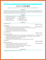 Front Desk Clerk Resume | Buildbuzz.info