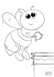 Cartoon Honey Bee Coloring Page Free Printable Coloring Pages