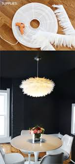 DIY Feather Pendant Light (Tutorial in Spanish.