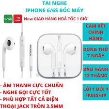 Tai nghe iphone 6 6s Plus chính hãng chân cắm tròn 3.5mm cho IP 5/6/6s/6  plus/6s plus BH 12 tháng