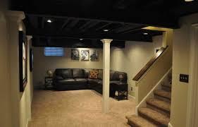 basement makeover ideas. Paint It All Black | Low Basement Ceiling Ideas Makeover S