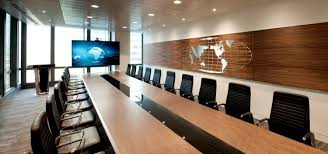london office design. Large Boardroom With Wooden Trimmings In Executive Office Design At Canary Wharf, London