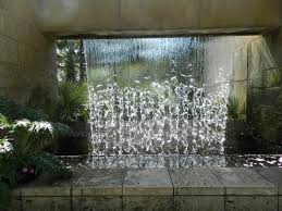 glass water wall fountain