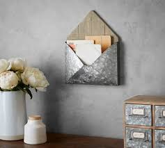 brokers wood galvanized wall mount mail holder