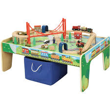 Train Set Table With Drawers Wooden 50 Piece Train Set With Small Table Only At Walmart