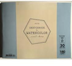 <b>Kroyter Скетчбук</b> для акварели 30 х 24 см 30 листов 07897, цвет ...