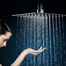 Regendusche Kopfbrause Set Großer 203 Cm Fester Duschkopf Schwenkbarem Kugelgelenk Anschluss Chrom Poliert Mit Schlauch