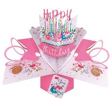 Second Nature 3d Pop Up Card Happy Birthday To You Cake Old Rowlands