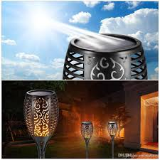 outdoor torch lighting. Discount Solar Lawn Lamp Garden Torch Lights 96 Led Dancing Flame Lighting Outdoor Waterproof Flickering Tiki Torches Landscape Light Path From China P