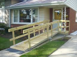 wooden wheelchair ramp installed by ehls