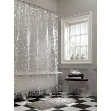 image of clear shower curtain plastic
