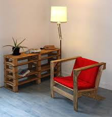 vintage furniture ideas. red chair from wood and lamp white vintage furniture modern interior decorating retro style ideas