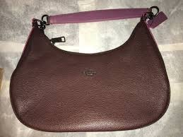 Coach Hobo Purse Purple Plum Leather F20917 BNWT