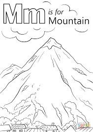 Small Picture Letter M is for Mountain coloring page Free Printable Coloring Pages