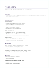 Resume Sample Waiter waitress resume examples Blackdgfitnessco 10