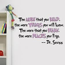 Reading Quotes For Kids 89 Wonderful VC Designs Ltd Dr Seuss The More You Read Quote Children's Room