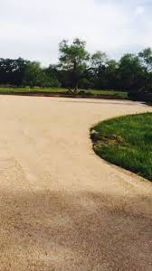 Chip And Seal Driveway Laid With Crushed Granite Chip And