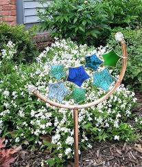 copper garden art ideas star stained glass stake yard decoration sun a sprinkler revival