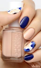 Blue Flower Nail Designs Pin On Nail Designs Gallery
