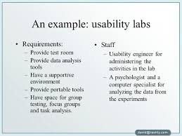 an example usability labs usability engineer